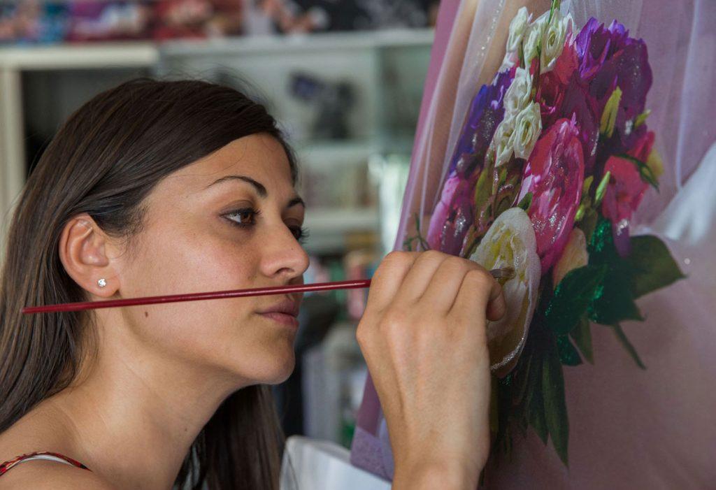 Foto su tela e pittura